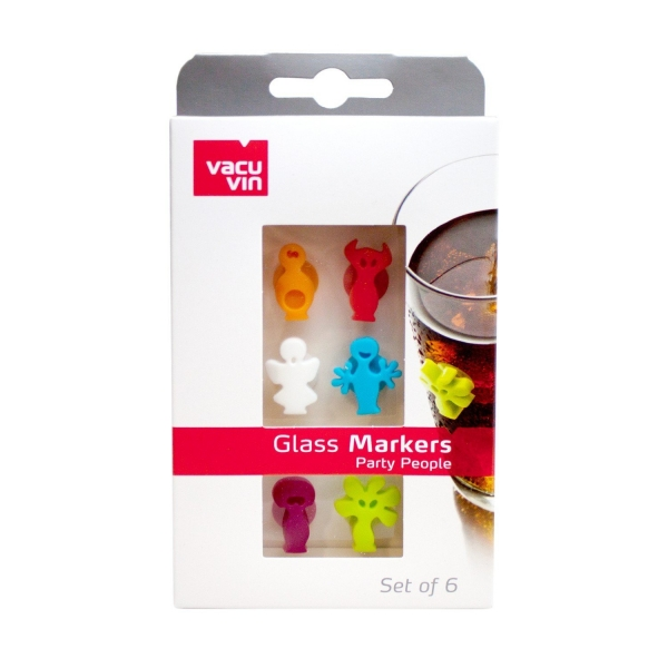 Glass Markers Party People 6er Set